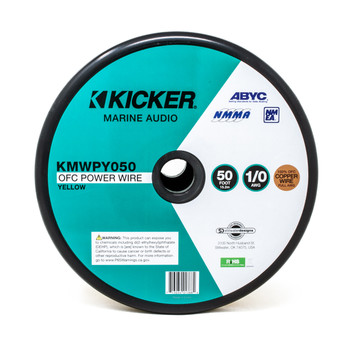 Kicker 47KMWPY050 Marine 1/0awg Power Wire, 50ft, Yellow