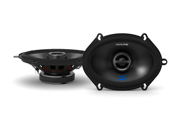 "Alpine 2-Pairs S-S57 5x7/6x8"" Coax speakers with Alpine S-A32F 320W 4-Ch Amp and Wiring"