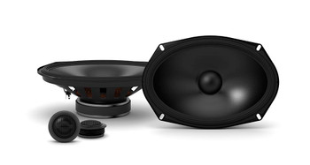 """Alpine 2-Pairs S-S69C 6x9"""" Component Speakers with Alpine S-A32F 320W 4-Ch Amp and Wiring"""