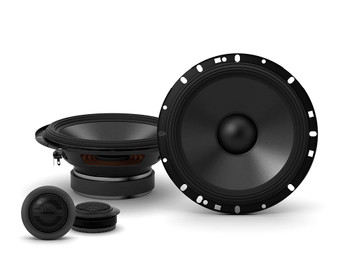 """Alpine 2-Pairs S-S65C 6.5"""" Component Speakers with an Alpine S-A32F 320W 4-Ch Amp and Wiring"""