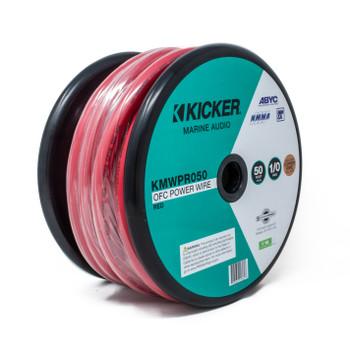 Kicker 47KMWPR050 Marine 1/0awg Power Wire, 50ft, Red