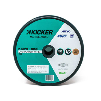 Kicker 47KMWPR050 Marine 1/0awg Power Wire, 50ft, Red