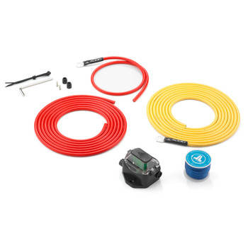 JL Audio XMD-PCS30A-1-L12 Premium 9 AWG 12V Power Marine Connection Kit, Single Amplifier, Within 12 ft of Battery