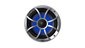 """Wet Sounds REFURBISHED RECON6-S-RGB LED 6.5"""" 60-Watt RMS Coaxial Speakers With Silver XS Grilles (Pair)"""