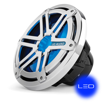 """JL Audio Marine Bass Package - M200/2 Amplifier, MX10IB3-SG-CLD-B 10"""" Subwoofer, Marine Wire Kit, and Bass Knob"""