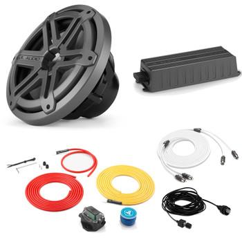 "JL Audio Marine Bass Package - MX300/ Amplifier, MX10IB3-SG-TB 10"" Subwoofer, Marine Wire Kit, and Bass Knob"