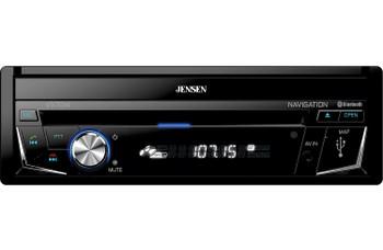 "Jensen VX7014 Single-DIN 6.2"" CD/DVD Nav and CarPlay Compatible - Open Box"