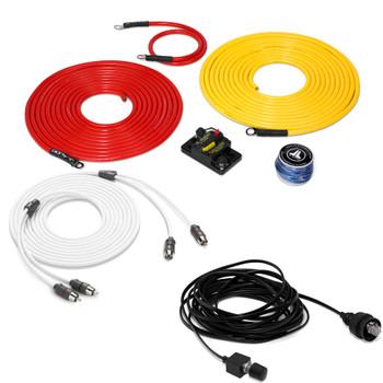 "JL Audio Marine Bass Package - M600/1 Amplifier, 2 MX10IB3-SG-TLD-B 10"" Subwoofers, Marine Wire Kit, and Bass Knob"