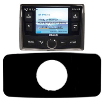 "Infinity PRV-315 Waterproof Radio W/ Stinger SEADASH3B Universal Marine 3"" Radio Dash Kit - Black"
