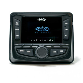 "Wet Sounds WS-MC2 With Stinger Marine SEADASH3W Universal Marine 3"" Radio Dash Kit-White, And SMRAUXUSB3 Usb/Aux"