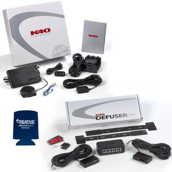 K40 RL200di Single Front Radar Detector and Dual LDO Dual Laser Diffuser