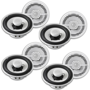 Clarion CMG1722R 7.7 Marine Speaker in White Case Pack 8 speakers (4 pair) in total