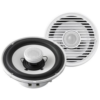 "Clarion CMG1722R 7.7"" Marine Speakers (3 pair) & CMG2512W 10"" Marine Subwoofer, Kicker KMA4506 Amplifier & wire kit"
