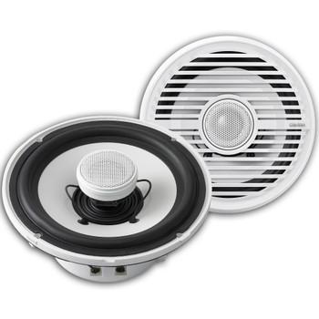 "Clarion CMG1622R 6.5"" Marine Speakers (3 pair) & CMG2512W 10"" Marine Subwoofer, Kicker KMA4506 Amplifier & wire kit"