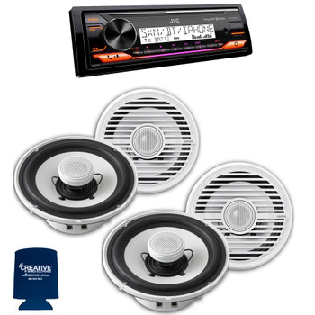 "Clarion CMG1622R 6.5"" Marine Speakers 2 pair compatible with JVC KD-X37MBS Marine Digital Media Receiver With Bluetooth"