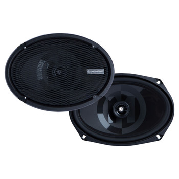"""Memphis Audio PRXS69 Power Reference Series 6x9"""" 2-Ohm Shallow 2-Way Speakers With Swivel Tweeters"""