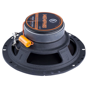 """Memphis Audio PRX60 Power Reference Series 6.5"""" Oversize 2-Way Coaxial Speakers With Swivel Tweeters - Pair"""