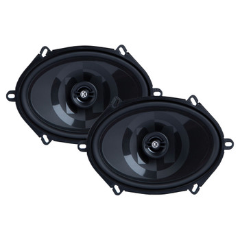 "Memphis Audio PRXS57  Power Reference Series 5x7"" 2-Ohm Shallow 2-Way Speakers With Swivel Tweeters"