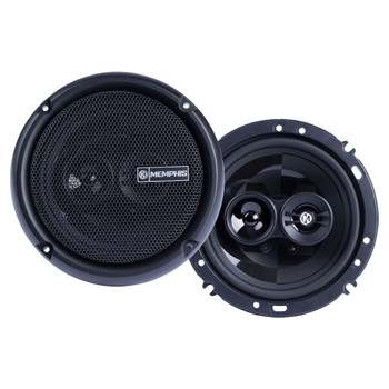 """Memphis Audio PRX603 Power Reference Series 6.5"""" 3-Way Coaxial Speakers With Swivel Tweeters - Pair"""