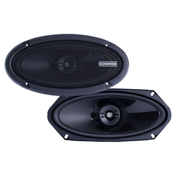 """Memphis Audio PRX410 Power Reference Series 4x10"""" 2-Way Coaxial Speakers With Swivel Tweeters - Pair"""