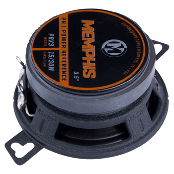 """Memphis Audio PRX3 Power Reference Series 3.5"""" 2-Way Coaxial Speakers with Fixed Tweeters - Pair"""