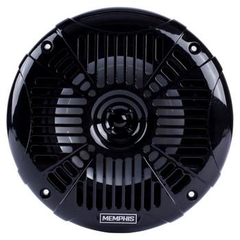 "Memphis Audio MXA602SLB MXA OEM Fit 6.5"" Marine Grade Coaxial Speakers, Black With Blue LED - Pair"