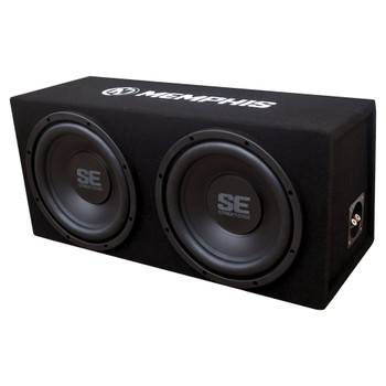 "Memphis Audio SE210 Dual 10"" Loaded SE Enclosure With SE2000.1DF 500 Watt Amplifier"