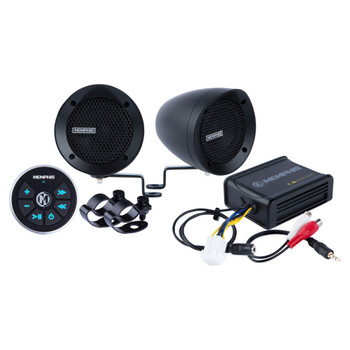 Memphis Audio MXABMB2BT Bar Mount 2-Speaker System With Amp And Built-In Bluetooth Receiver, Black
