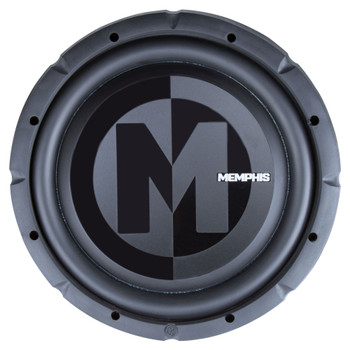 "Memphis Audio PRXS1244 12"" Power Reference Dual 4-Ohm Shallow Mount Subwoofer - 350 wRMS"