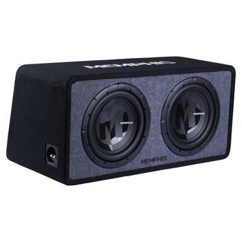 "Memphis Audio PRXE12D2 Dual 12"" Power Reference Series Loaded Enclosure 2-Ohm"