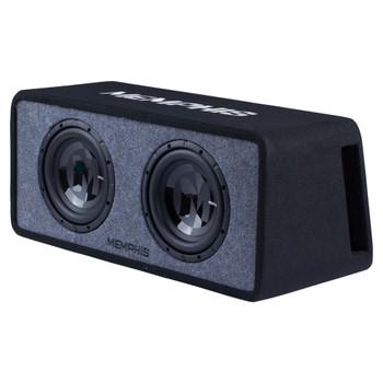 "Memphis Audio PRXE10D2 Dual 10"" Power Reference Series Loaded Enclosure 2-Ohm"