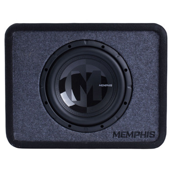 """Memphis Audio PRXE10S2 Single 10"""" Power Reference Series Loaded Enclosure 2-Ohm"""