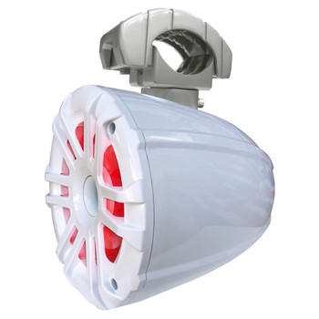 """Memphis Audio MXA62TW 6.5"""" Wake Tower Speakers, White With Swivel Mounting Clamps"""