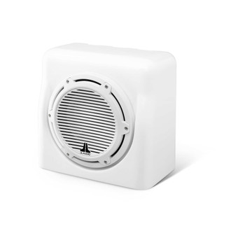 JL Audio 10-Inch M6 Enclosed Subwoofer System, Gloss White, Classic Grille - SKU: M6-10FES-Gw-C-GwGw-4