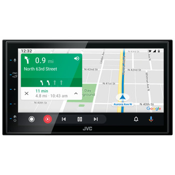 "JVC KW-M560BT Digital Media Receiver 6.8"" Touch Panel Compatible With Apple CarPlay & Android Auto"