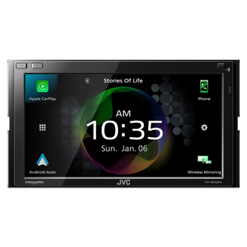 JVC KW-M856BW - Digital AV Receiver Works with Wireless CarPlay, Wireless Android Auto, 4-Camera Inputs