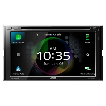 JVC KW-V960BW Works with Wireless CarPlay, Wireless Android Auto, CD/DVD AV Receiver, High-Res Audio, 4-Camera Input