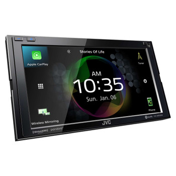 JVC KW-M855BW compatible with Wireless CarPlay, Wireless Android Auto Digital AV Receiver, High-Resolution Audio