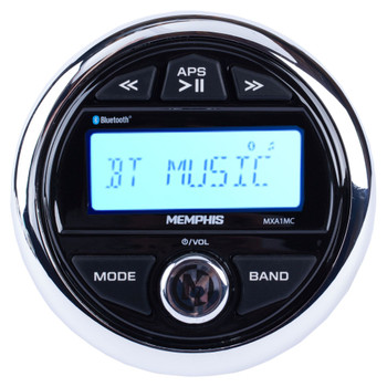 Memphis Audio MXA1MC Gauge Style Bluetooth Marine Media Center