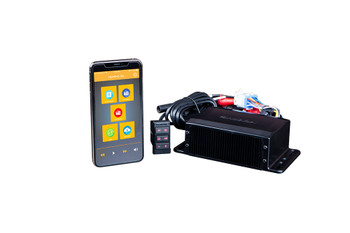 Memphis Audio MXAMCAPP Headless Media Center Receiver For Smartphone Control With Am/FM Bluetooth AUX and Weather Band