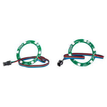 "Memphis Audio 16-MXALEDSP2 Pair LED Ring Inserts For MXA Coaxial Speakers, 6.5"", 8"" And 6x9"""