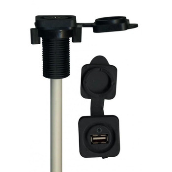 "MB QUART GMR-3 Waterproof Radio with Stinger SEADASH3B Universal Marine 3"" Radio Dash Kit-Black, & SMRAUXUSB3 USB/AUX"