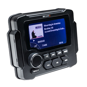 "MB QUART GMR-LED Waterproof Radio with Stinger SEADASH3W Universal Marine 3"" Radio Dash Kit - White"