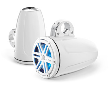JL Audio MX770-ETXv3-SG-WHLD-B MX Series 7.7-inch Enclosed Tower Coaxial Speaker System White Blue LED