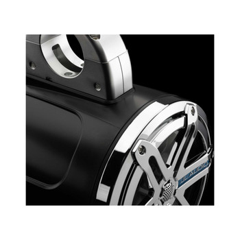 JL Audio Wake Tower Speaker Package includes M400/4, 2 (1 Pair) MX770-ETXv3-SG-CK , Covers, wire kit, RBC volume