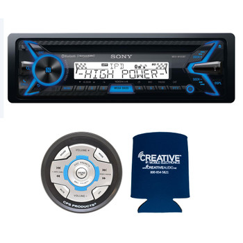 Sony MEX-M100BT CD Receiver with BLUETOOTH and CPS SRC2 Wired Marine Remote for Sony Radios
