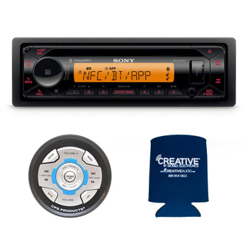 Sony MEX-M72BT Marine CD Receiver with BLUETOOTH and CPS SRC2 Wired Marine Remote for Sony Radios