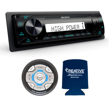 Sony DSX-M80 High Power Marine Media Receiver with Bluetooth and CPS SRC2 Wired Marine Remote for Sony Radios