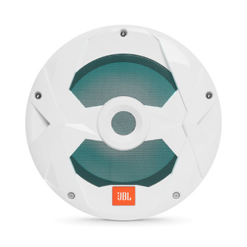 JBL MS10LW Marine 10 Inch White Subwoofer with RGB LEDs - 4-Ohm