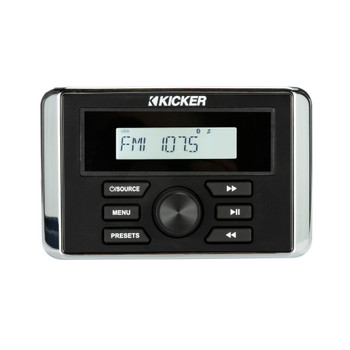 Kicker 46KMC3 Weather-Resistant Gauge-Style Media Center With Bluetooth